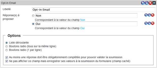Gérez l'abonnement de vos contacts en utilisant le champ Optin Email