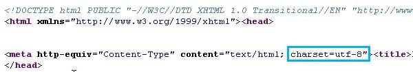 Précisez l'encodage de votre fichier HTML dans son code