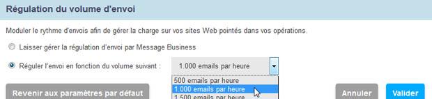 Modulez la vitesse d'envoi de vos Emailings
