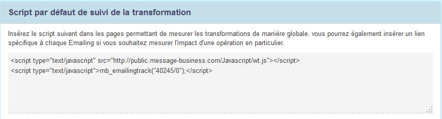 Utilisez le script de transformation pour mesurer l'efficacité de vos Emailings