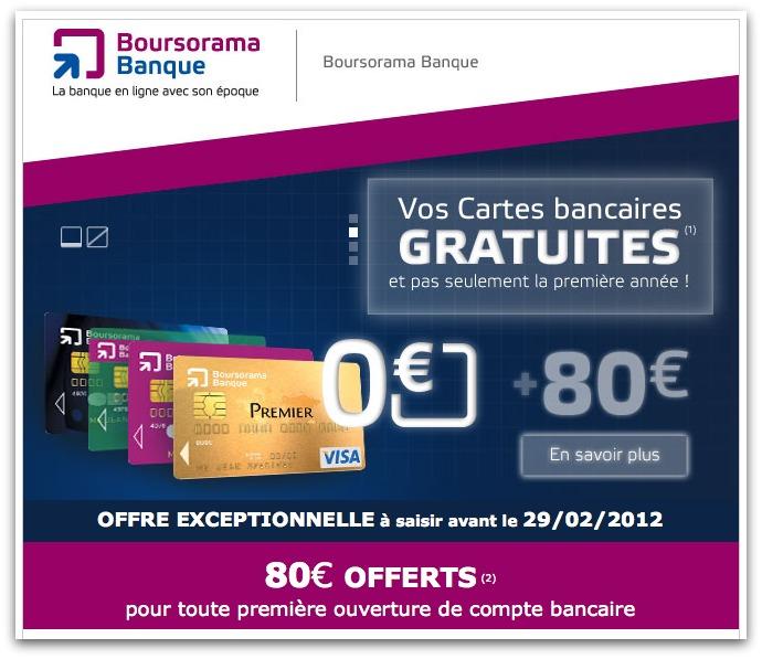 emailing boursorama banque offre les cartes bancaires message business. Black Bedroom Furniture Sets. Home Design Ideas