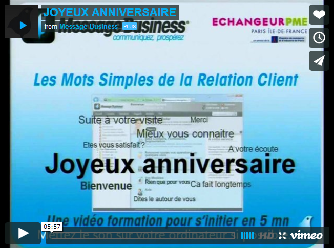 Mot Simple De La Relation N 8 Joyeux Anniversaire Message Business