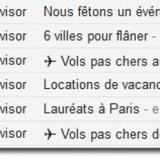 Trip Advisor Objet Email