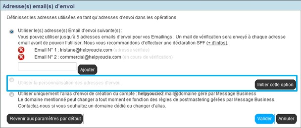 emailing-adresse-envoi-variable-parametres