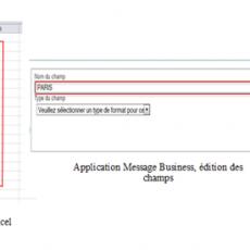Copie d'écran application Message Business