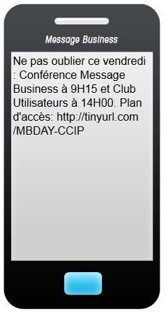 SMS de rappel pour le Message Business Day