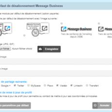 Désabonnement et pied d'email par défaut