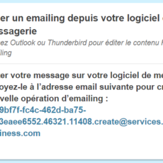 Emailing à partir d'Outlook