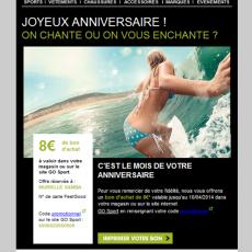 Email anniversaire Go Sport 2014-03-11