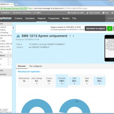 SMS : consultez les résultats du rapport de votre opération