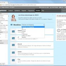 Créez votre Emailing à partir d'un modèle Message Business