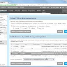 Paramétrage de notification par mail de la disponibilité des rapports Emailing & SMS