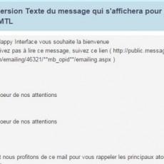 Editez la version TEXTE de votre Emailing