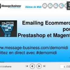 Slideshare Emailing Ecommerce pour Prestashop et Magento