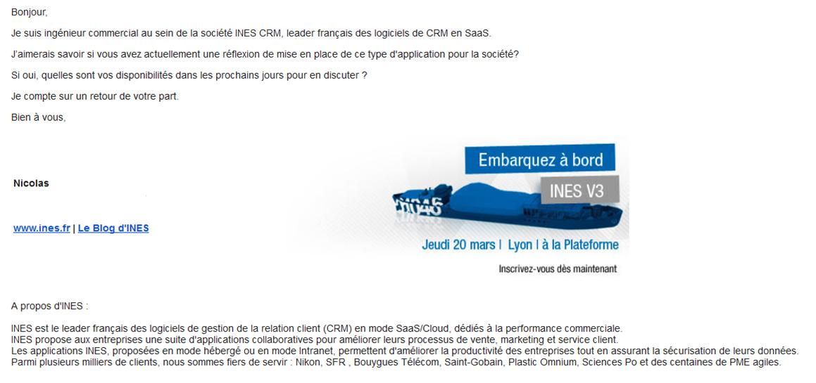 Emailing De L Art De La Prospection Message Business