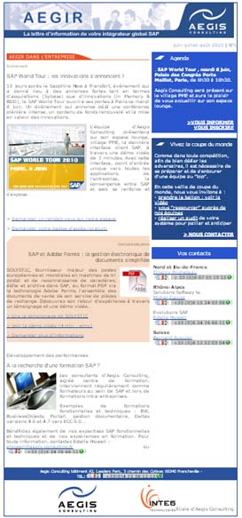 Emailing Aegis Consulting via Message Business