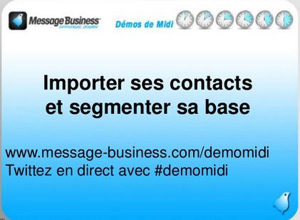 Démo de Midi : importer et segmenter sa base contacts