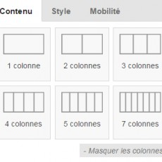 Créer vos propres blocs et imbriquer des colonnes