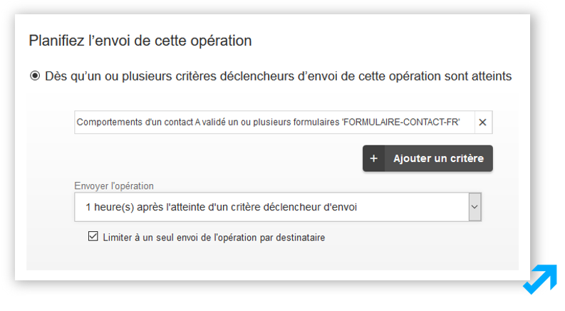Module de planification de scénarisation dans l'application Message Business