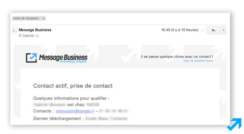 Notification aux commerciaux via les données comportementales