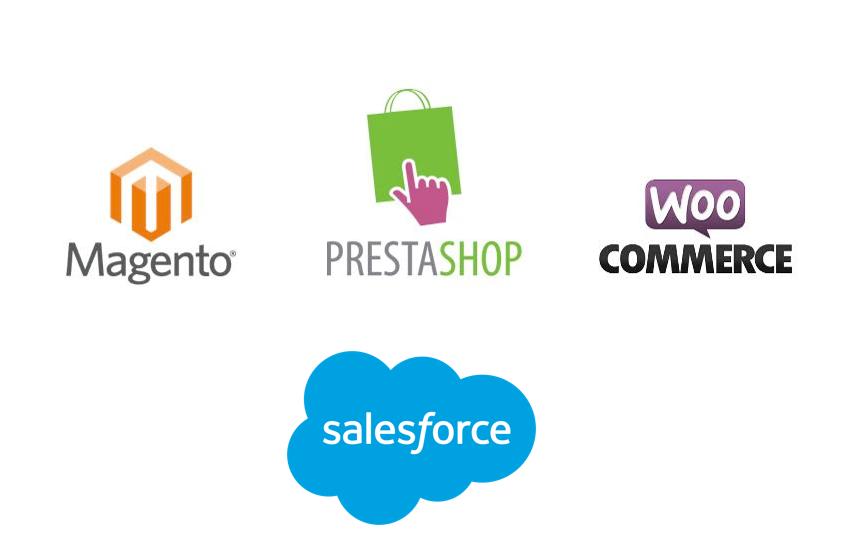 Connecteur Message Business pour salesforce magento prestashop wordpress woocommerce