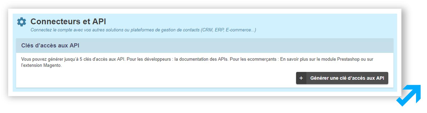 API et connexion CRM Message Business