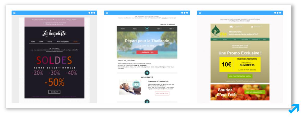 Exemples de la collection Emailings créés par des directeurs artistiques talentueux pour Message Business