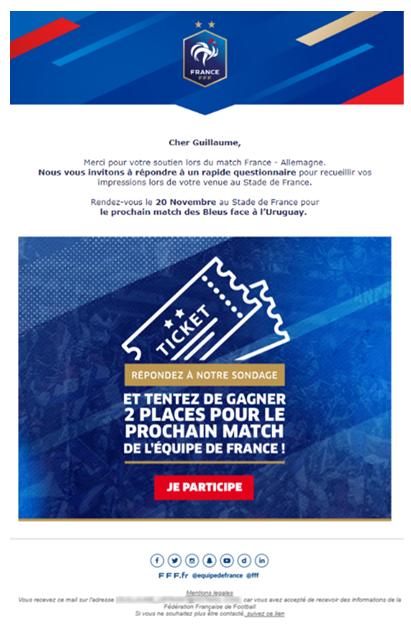 Enquête de satisfaction sport - Fédération Française de Football