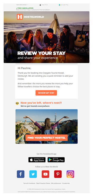 Enquête de satisfaction tourisme - HostelWorld